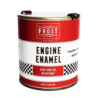 Jaguar Semi Gloss Black Engine Paint HMG Enamel 500ml Classic British Colours