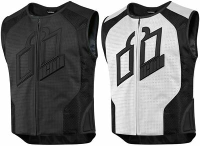 Icon Mens Hypersport Prime Armored Leather Vest