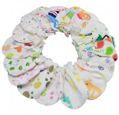 6pcs Boys Girls Infant Newborn Soft Cotton Handguard Anti Scratch Mittens Gloves