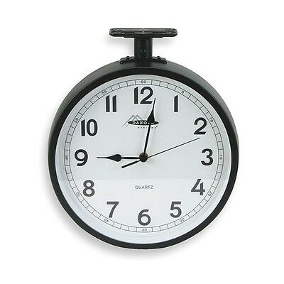 2CHY6 Clock, Rnd, Anlg, 11 5/8in, Ceiling, Blk