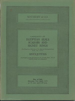 SOTHEBY'S Antiquities Seal Scarabs Signet Rings Cylinder Sassanian Catalog 1975
