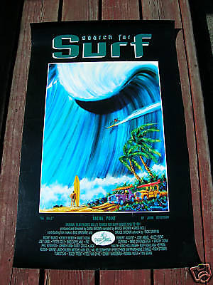 Vintage Greg Noll John Severson Surf movie poster surfing search for surf woody