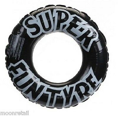 "Giant Inflatable TYRE SWIM RING Rubber Swimming Pool Lilo Float Holiday 36"" 91cm"