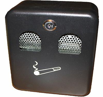 Quality Wall Mounted Lockable Outdoor Ashtray Metal Coated Cigarette Ash Bin