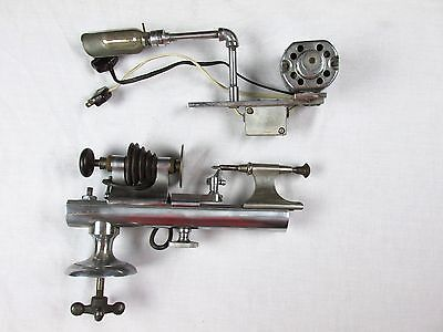 Vintage Wolf Jahn & Co Watchmakers Gunsmith Lathe w/ Delco Motor & Light Germany