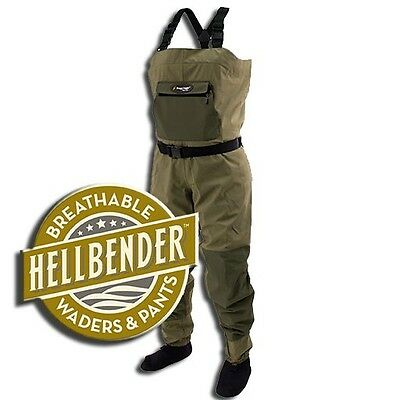 New Size Small Frogg Toggs Hellbender Breatheable Stockingfoot Fishing Waders