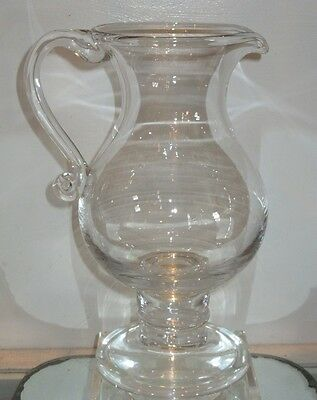 Colonial Williamsburg 18th C Style Georgian Glass Pitcher w Gold Coin
