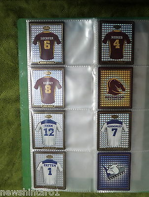 #BB7.    2009  FOOTY FACES  NRL  RUGBY LEAGUE TAZOS, 62 of 64