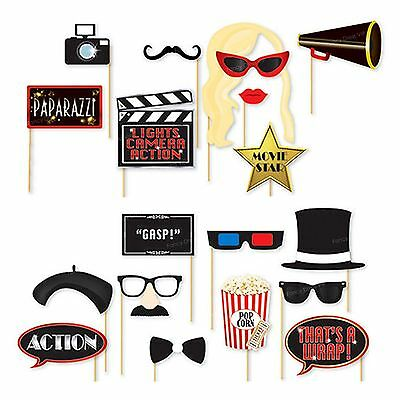 18x Oscars Photo Booth Selfie Props Movie Hollywood Premiere Awards Party Decor