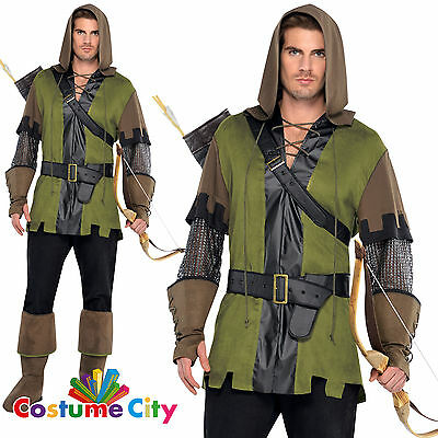 Adults Mens Prince Of Thieves Robin Hood Halloween Fancy Dress Party Costume