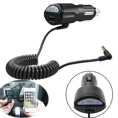 HIFI car Bluetooth music adapter cigarette lighter plug  car audio cable car MP3