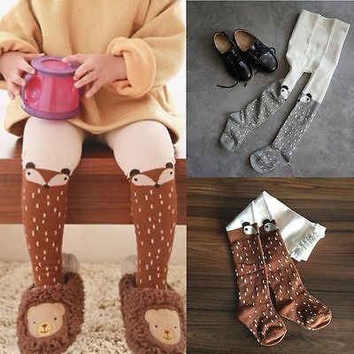 1 Pair Baby Kids Girls Cotton Fox Tights Socks Stockings Pants Hosiery Pantyhose