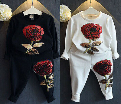 Baby Girls Boys Sportswear Suit Clothes Hoodie T-shirt Tops+Long Pants Outfits