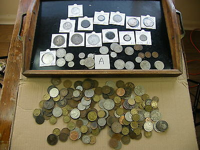 Massive job lot of British Coins,Solid Silver crowns,Double Florins etc (Lot A)