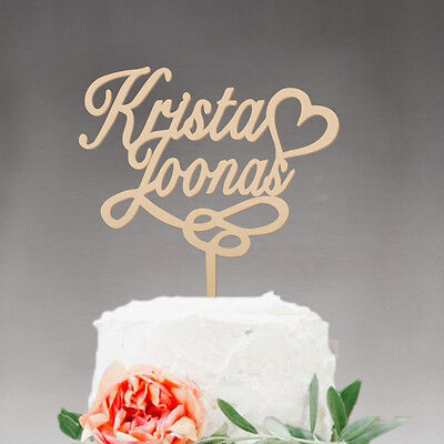 Personalized Wooden wedding cake topper Mr & Mrs Unique Wedding Gift Party Deco