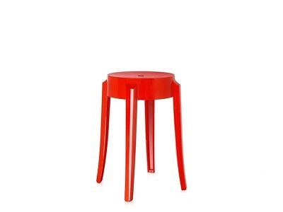 Kartell Genuine Charles Ghost Stool Red Small Slightly Scratched RRP £104 SALE