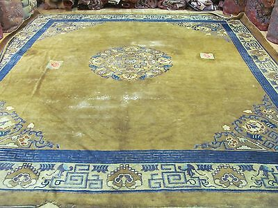 ANTIQUE CHARMING OLD HANDMADE CHINESE ORIENTAL CARPET (400 x 300 cm)