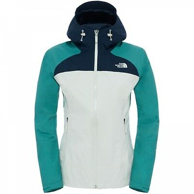 The North Face Damen Stratos Jacket Hardshelljacke Regenjacke White Deep Sea Nav