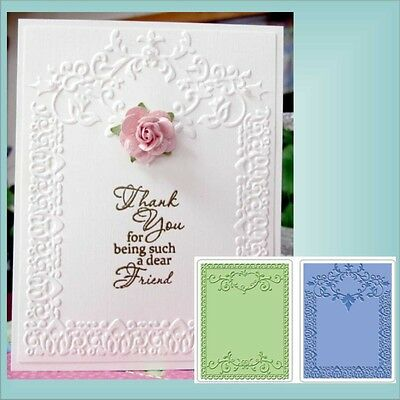 ORNATE FRAMES SET Embossing Folders SIZZIX 656989 All Occasion rectangle frames