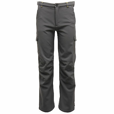 Regatta Winter Softshell Trousers Softshellhose für Kinder gefüttert grau