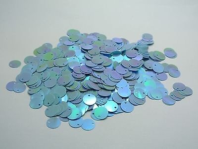 2000 Blue Flat Round loose sequins Paillettes Top Hole 10mm sewing Wedding