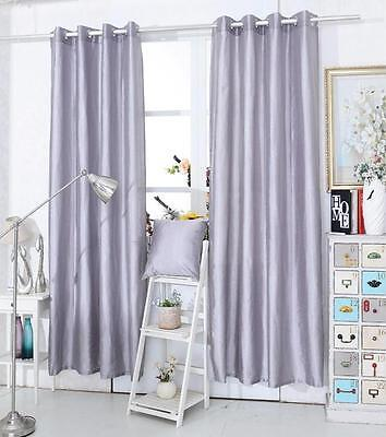 CLEARANCE SILVER Glitter Sparkly Diamante Eyelet Ring Top Voile Curtain Panel