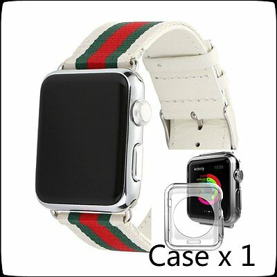 White Mix Color Woven Nylon Wrist Band Strap Bracelet For Apple Watch 38mm