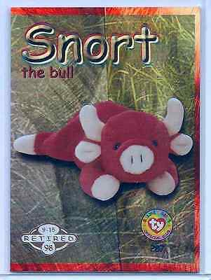 Snort the Bull GOLD #001/100 Retired Beanie Babies - 1999 Ty