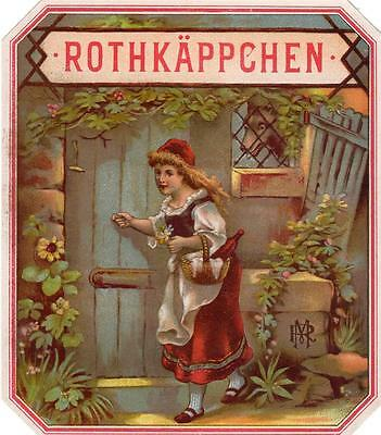Original Vintage Outer Cigar Box Label - Rothkappchen