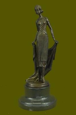 Handmade Fine Art Bronze Sculpture Powerful Female Subject signed Milo French