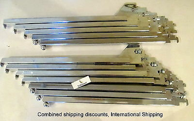 """B16 Square Tube 16"""" Arm Clothes Vertical Display Wall Lot of 12"""