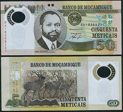 Mozambique 50 Meticais 2011 UNC**New - Polymer