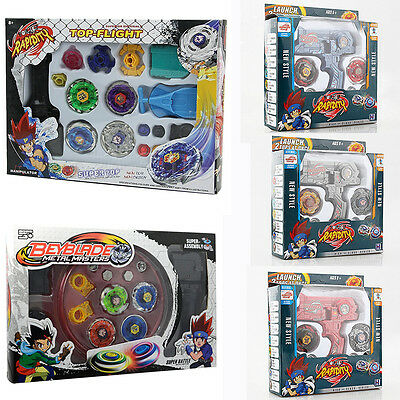 Metal Fusion Master Masters Beyblade Fight Launcher Rare Toy Set 4D Top Children