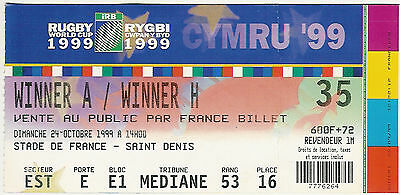 South Africa v England - quarter final 24 Oct 1999 Paris RUGBY WORLD CUP TICKET