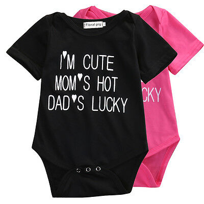 Cute Newborn Baby Girls Top Shirt Bodysuit Romper Jumpsuit Outfits Clothes 0-24M