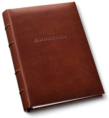 Gallery Leather Desk Address Book Acadia Leather - Tan 11050