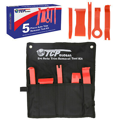 5pc Auto Trim Removal Tool Kit - Install & Remove Fasteners Trims Molding Panels