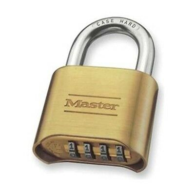175LH Combination Padlock, Bottom, 4 Dial, Silver
