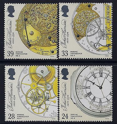 1993 Gb Marine Timekeepers Set Of 4 Fine Mint Mnh Sg1654-Sg1657