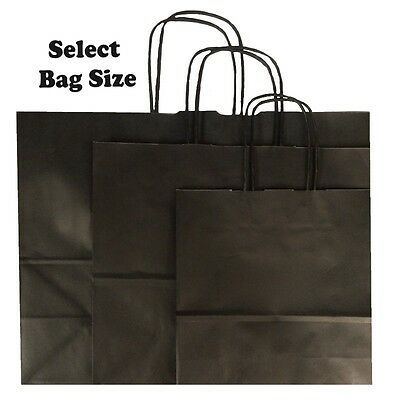 Black Paper Gift Bags ~ Boutique Shop Party Bag ~ Size Small Medium Large