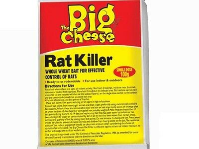 THE BIG CHEESE Rat Killer Cut Wheat Bait Rodenticide Sachet 100g