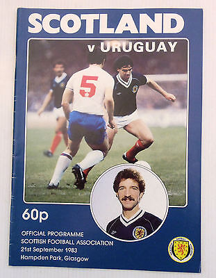 SCOTLAND v URUGUAY HAMPDEN PARK 21 SEPTEMBER 1983 FRIENDLY INTERNATIONAL