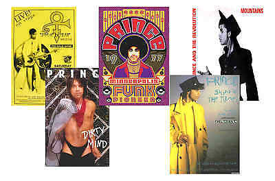 Prince - Set Of 5 - A4 Poster Prints # 3