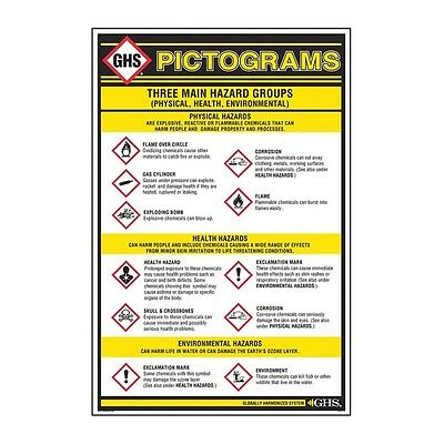 GHS1010 GHS Pictogram Wall Chart 24 x 36