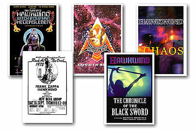 Hawkwind - Set Of 5 - A4 Poster Prints # 2
