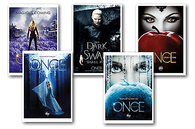 Once Upon A Time - Set Of 5 - A4 Poster Prints # 3