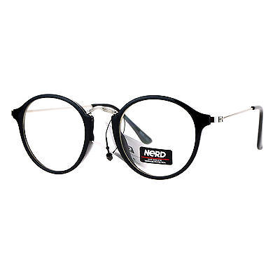 Nerd Eyewear Clear Lens Glasses Vintage Fashion Round Frame Eyeglasses