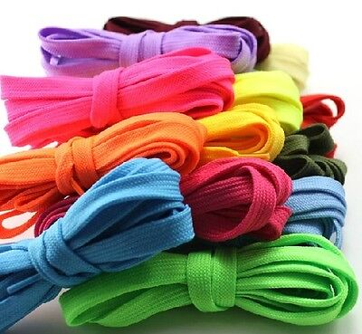 BUY 2 GET 1 FREE Causal Sports Flat Colorful Coloured Shoelaces Shoe Laces
