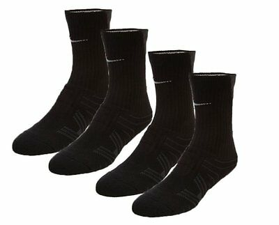 Nike Performance Cushioned Black And Gray Youth 3y-5y Crew Football Socks 2 pack