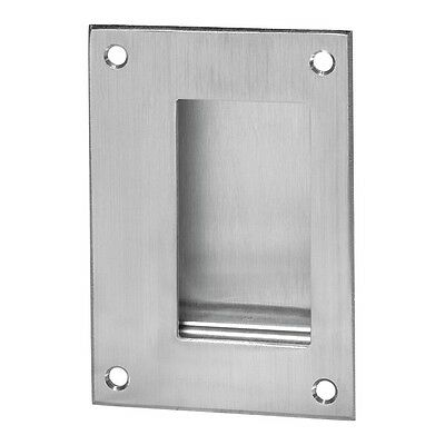 94.32D Flush Pull, Satin Stainless Steel Finish